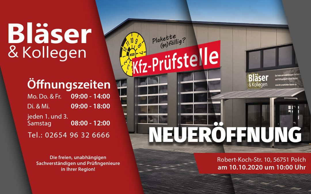 Neueröffnung am 10.10.2020 ab 10 Uhr in Polch